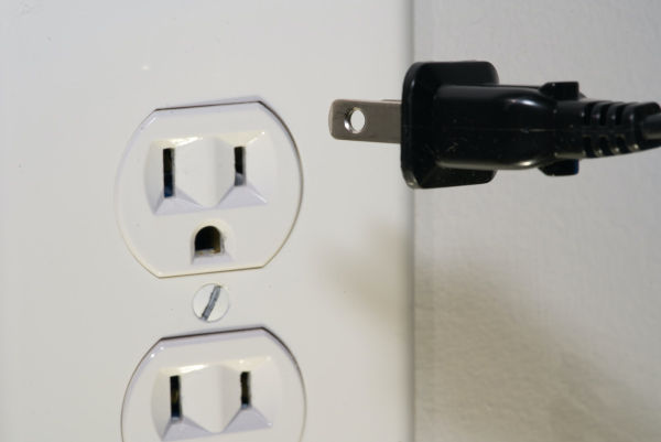 Cat peed on electrical outlet.