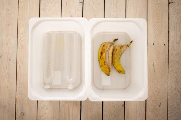 Banana peels.